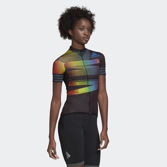 NWT Adidas adistar rainbow Pride cycling Jersey